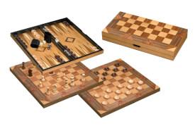 Philos Schach-Backgammon-Dame-Set, Feldgröße 43 mm