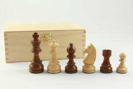 Schachfiguren Buchsbaum braun/natur Königshöhe 76 mm