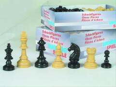 Schachfiguren Kunststoff, Königshöhe 74 mm