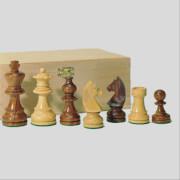 Schachfiguren Teak und Buchsbaum, Königshöhe 76 mm