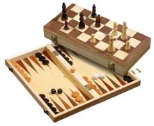 Philos Schach-Backgammon -Dame-Set, Feldgröße 40 mm