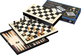 Philos Reise-Schach-Backgammon-Dame-Set