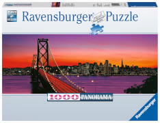 Ravensburger 15104 Puzzle San Francisco, Oakland Bay Bridge bei Nacht 1000T.