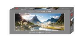 HEYE Panoramapuzzle - Alexander von Humboldt - Milford Sound - 1000 Teile