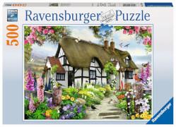 Ravensburger 14709 Puzzle Verträumtes Cottage 500 Teile