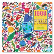 Puzzle, Vögel und Blumen 1008 Teile