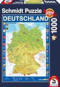 Schmidt Puzzle 58287 Deutschlandkarte, 1000 Teile, ab 12 Jahre