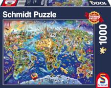 Schmidt Puzzle 58288 Entdecke unsere Welt, 1000 Teile, ab 12 Jahre