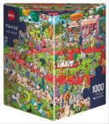 HEYE Puzzle Dog Show Triangular 1000 Teile