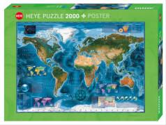 HEYE Puzzle Satellite Map Standard 2000 Teile