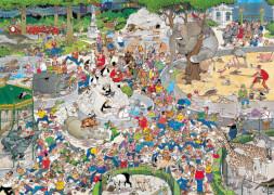 Jumbo 01491 Puzzle Jan van Haasteren, Der Zoo, 1000 Teile