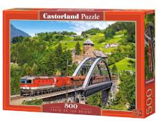 Spielwaren: Train on the Bridge,Puzzle 500 Teile