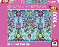 Schmidt Puzzle 59587 Catalina Estrada, Blauer Sperling, 1000 Teile, ab 12 Jahre