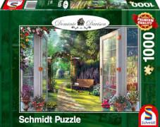 Schmidt Puzzle 59592 Dominic Davison, Blick in den verwunschenen Garten, 1000 Teile, ab 12 Jahre