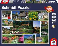 Schmidt Puzzle 5834 Mach mal Urlaub in England, 1000 Teile, ab 12 Jahre