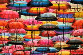 Puzzle Kunterbunte Schirme
