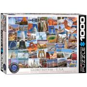 EuroGraphics Puzzle Globetrotter USA 1000 Teile