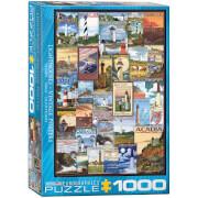 EuroGraphics Puzzle Leuchttürme 1000 Teile