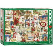 EuroGraphics Puzzle Antike Weihnachtskarten 1000 Teile