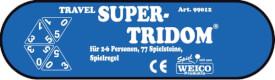 TRAVEL SUPER-TRIDOM®, 2-6 Personen, 77 Steine, 227 Gramm