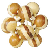 fridolin - IQ-Test Bambuspuzzle - Atom zweifarbig