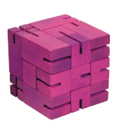 fridolin - IQ-Test Flexi-Cube - violett, Holz