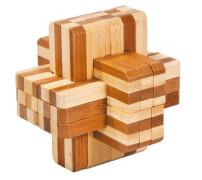 fridolin - IQ-Test Bambuspuzzle - Block-Kreuz