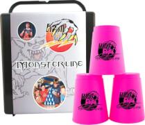 FlashCups Monsterline (12 St.) inkl. Box + DVD, neonpink
