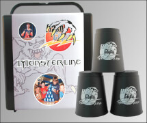 FlashCups Monsterline schwarz mit DVD