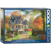 EuroGraphics Puzzle Das blaue Landhaus von Dominic Davison 1000 Teile
