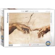EuroGraphics Puzzle Die Erschaffung Adams (Detail) von Michelangelo 1000 Teile
