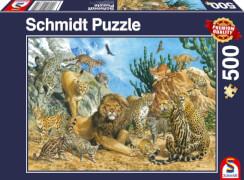 Schmidt Spiele Puzzle Großkatzen 500 Teile