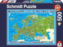 Schmidt Spiele Puzzle Europa entdecken 500 Teile