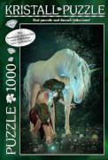 M.I.C. Kristall Puzzle 1000 Teile Motiv: My Unicorn mit Swarovski Kristallen