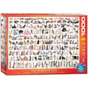 EuroGraphics Puzzle Katzenwelt 1000 Teile