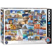 EuroGraphics Puzzle Globetrotter Welt 1000 Teile