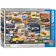 EuroGraphics Puzzle Jeep Werbung 1000 Teile