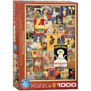 EuroGraphics Puzzle Alte Werbeposter 1000 Teile