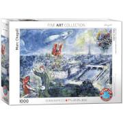 EuroGraphics Puzzle Ansicht von Paris von Marc Chagall 1000 Teile