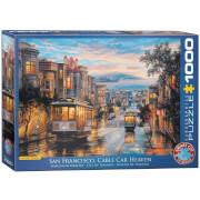 EuroGraphics Puzzle San Francisco Kabelbahn Himmel von Eugene Lushpin 1000 Teile