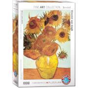 EuroGraphics Puzzle Zwölf Sonnenblumen in einer Vase von van Gogh 1000 Teile