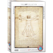 EuroGraphics Puzzle Der Vitruvianische Mensch von Leonardo Da Vinci 1000 Teile