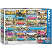EuroGraphics Puzzle VW Käfer - Rumgekommen 1000 Teile