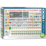 EuroGraphics Puzzle Illustriertes Periodensystem der Elemente 500 Teile