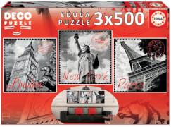 Educa - Big Cities Deco 3x500 Teile