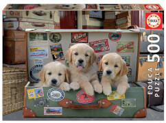 Educa - Puppies in the Luggage 500 Teile