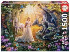 Educa - Dragon, Princess and Unicorn 1500 Teile