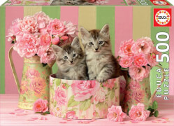 Educa - Kittens with Roses 500 Teile