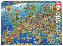 Educa - Crazy European Map 500 Teile