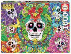 Educa - Neon Sugar Skulls 1000 Teile